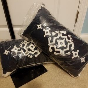Decorative Pillows Navy and White Aztec Dory Belks